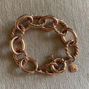 J Crew rose gold chunky link bracelet